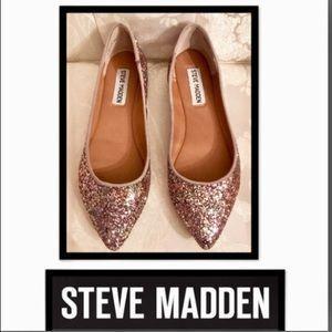 🦋Steve Madden•Hanna Glitter Flats